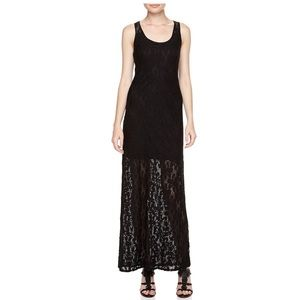 NEW Laundry by Design Floral Lace Black Maxi Dress